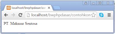 Tutorial Belajar PHP Pemula Tentang Konstanta di PHP