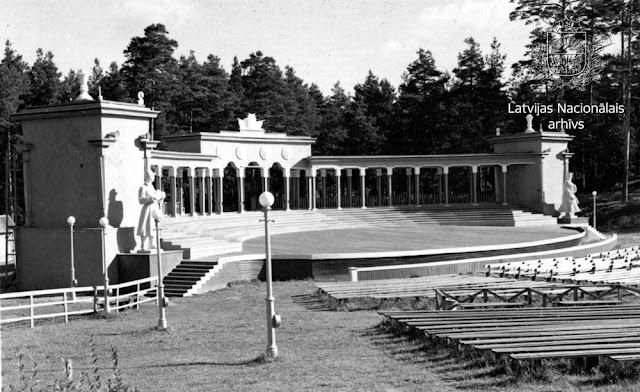 """Сентябрь 1950 года. Рига. Межапарк. """"Зеленый"""" театр (Zaļais teātris)"""
