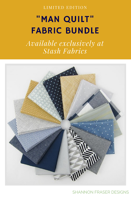 """Man Quilt"" Fabric Bundle 
