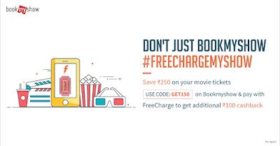 BookMyShow FreeCharge Cashback Offer - Get Rs 100 Cashback On FreeCharge Wallet