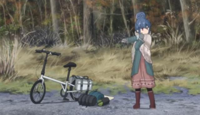 Yuru Camp bikecamping, bikepacking