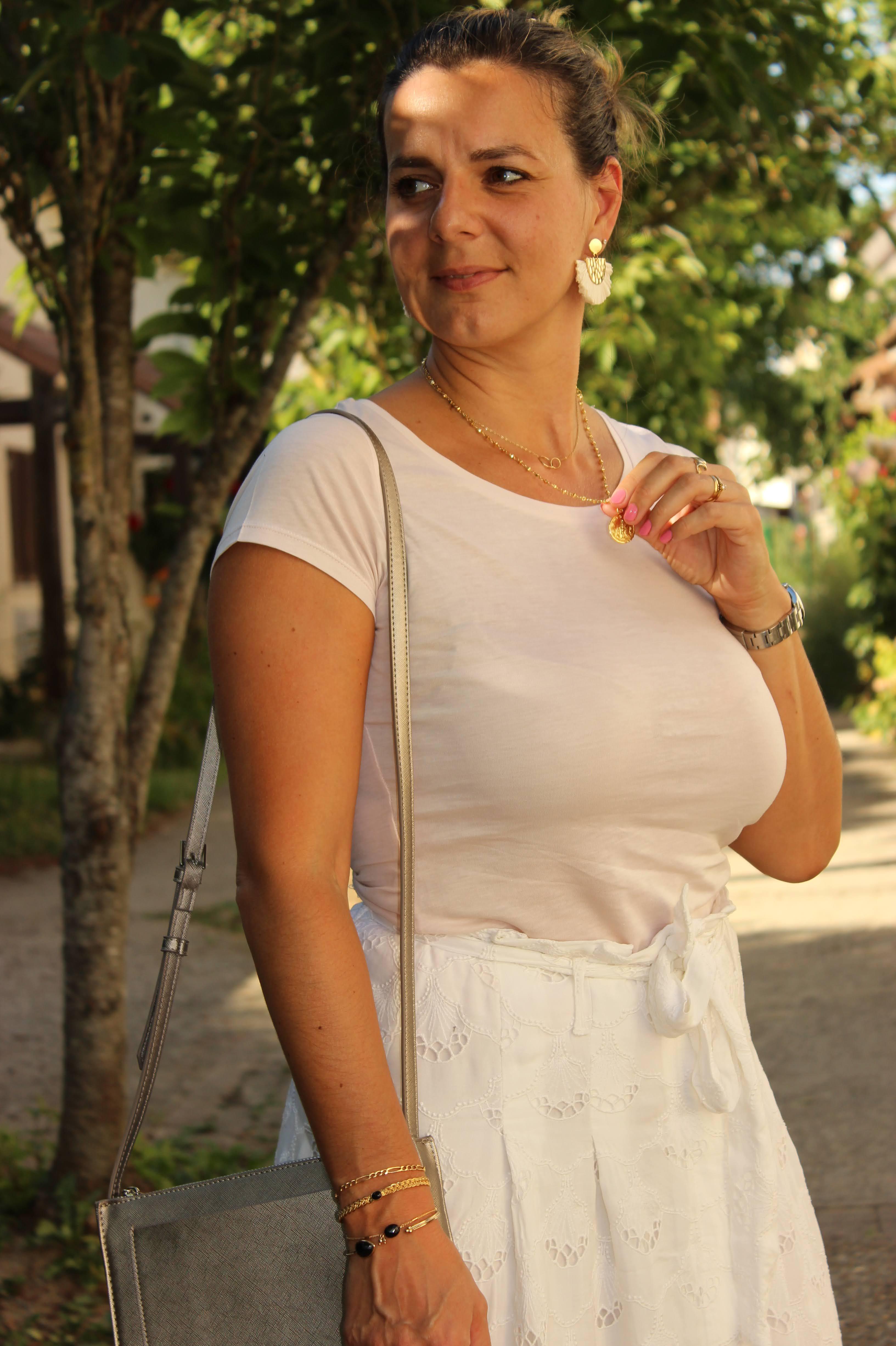 Jupe Sezane, top Absolute Cashmere, look du jour, les petites bulles de ma vie