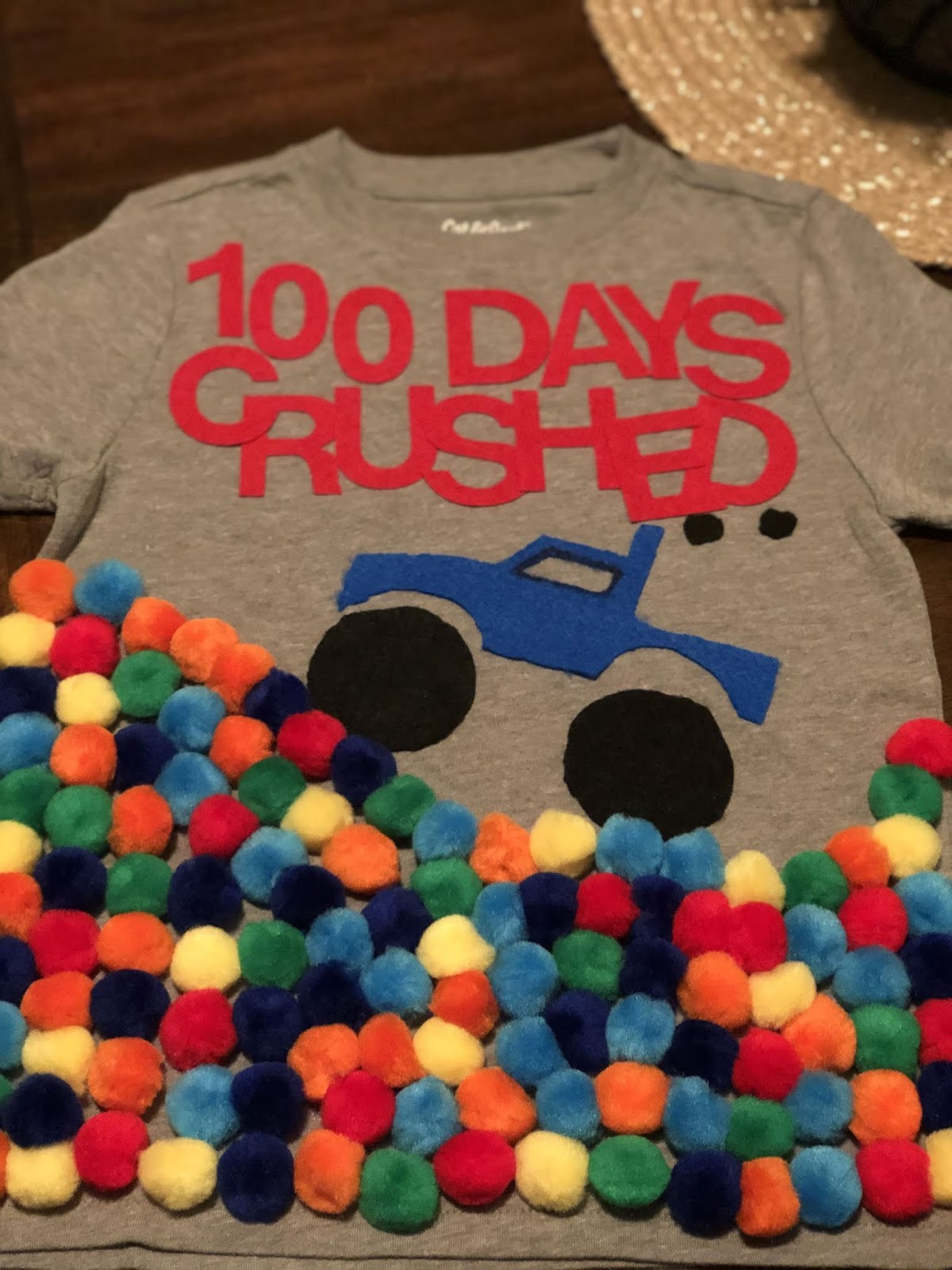 Monster Truck 100 Days of School Shirt