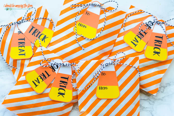 Candy Corn Favor Tags
