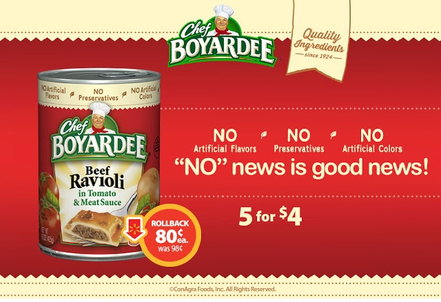 ravioli, Chef Boyardee, deal