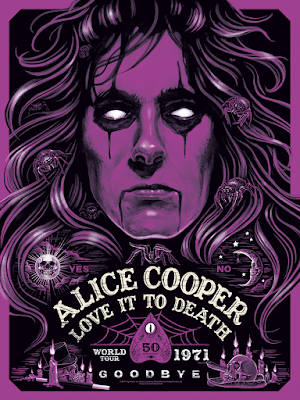 Alice Cooper: Love It to Death Screen Print by Ghoulish Gary Pullin x Collectionzz