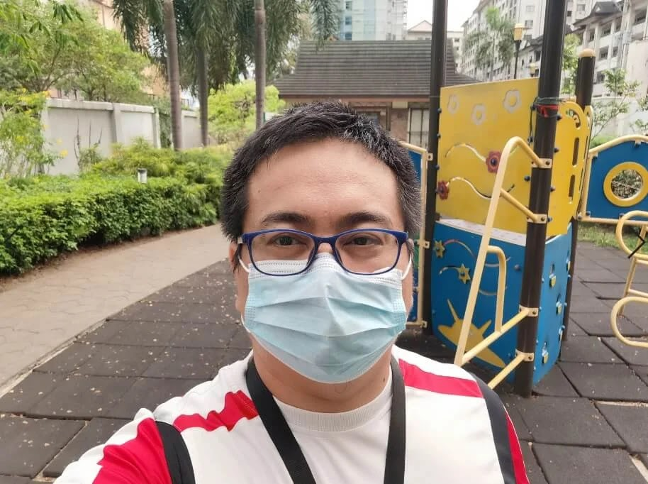 Huawei P40 Pro Camera Sample - Selfie with Mask