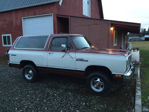 1984 dodge ramcharger for sale 4x4 cars. Black Bedroom Furniture Sets. Home Design Ideas