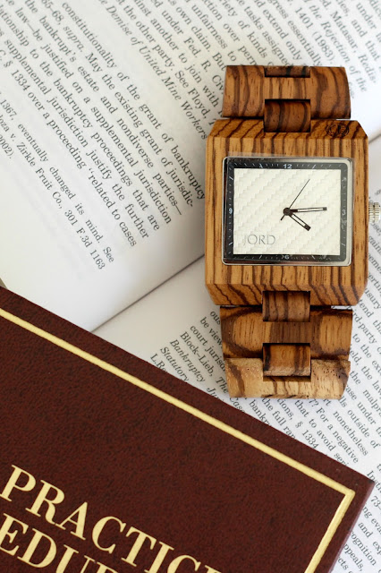 Men's wooden watch.