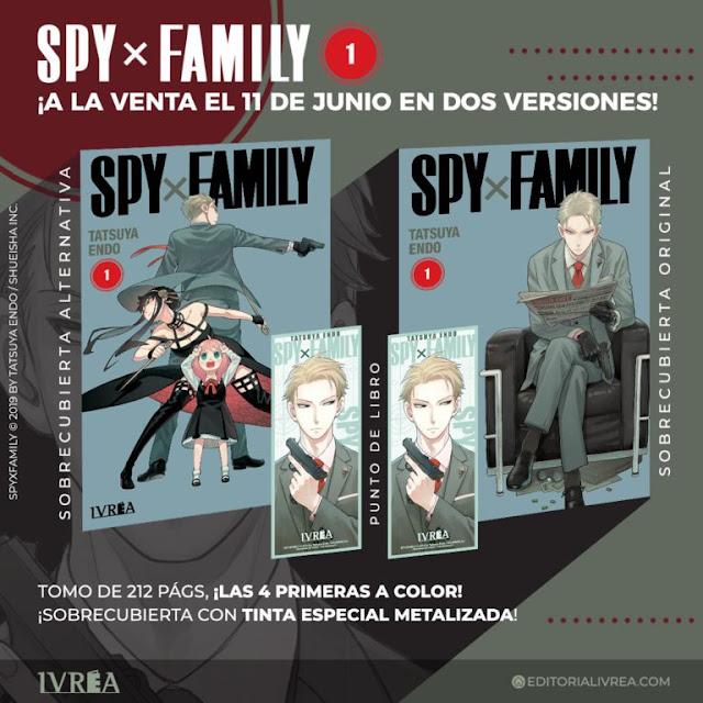 El manga Spy×Family, cuyo lanzamiento se realizará este 11 de junio de 2020 de la mano de Ivréa, llegará en dos ediciones diferentes: una con la portada original y otra con una portada alternativa.