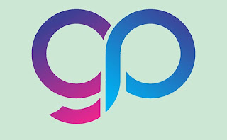 GP Alphabet Letter logo vector