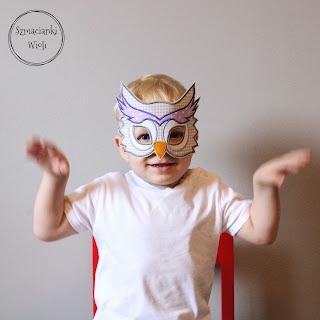 Maska sowa – dla dzieci i dorosłych