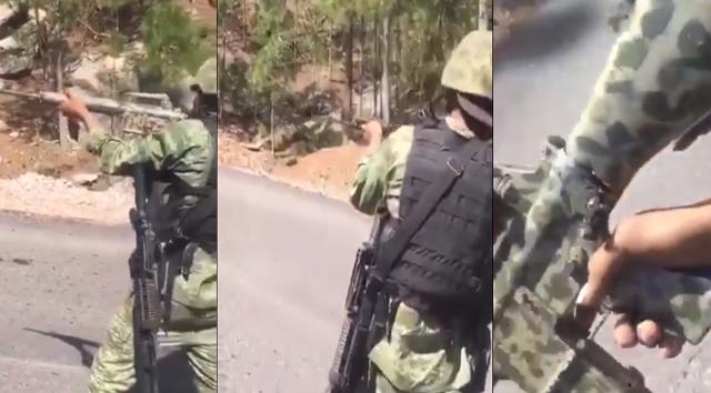 VIDEO.- Parecen Militares en enfrentamiento, pero son Sicarios de Los Cabrera a la orden del Cártel de Sinaloa mostrando su poderío en carretera