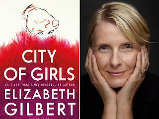 cover of City of Girls and its author, Elizabeth Gilbert