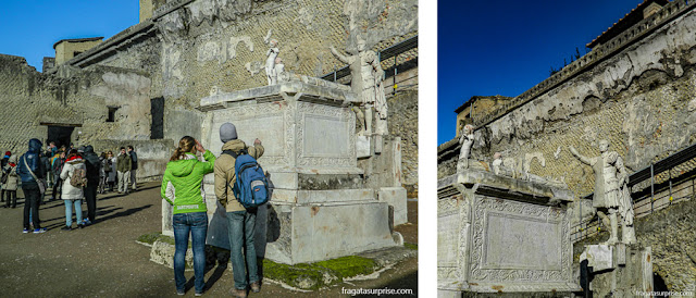 Altar do procônsul Nonio Balbo, Herculano, Itália