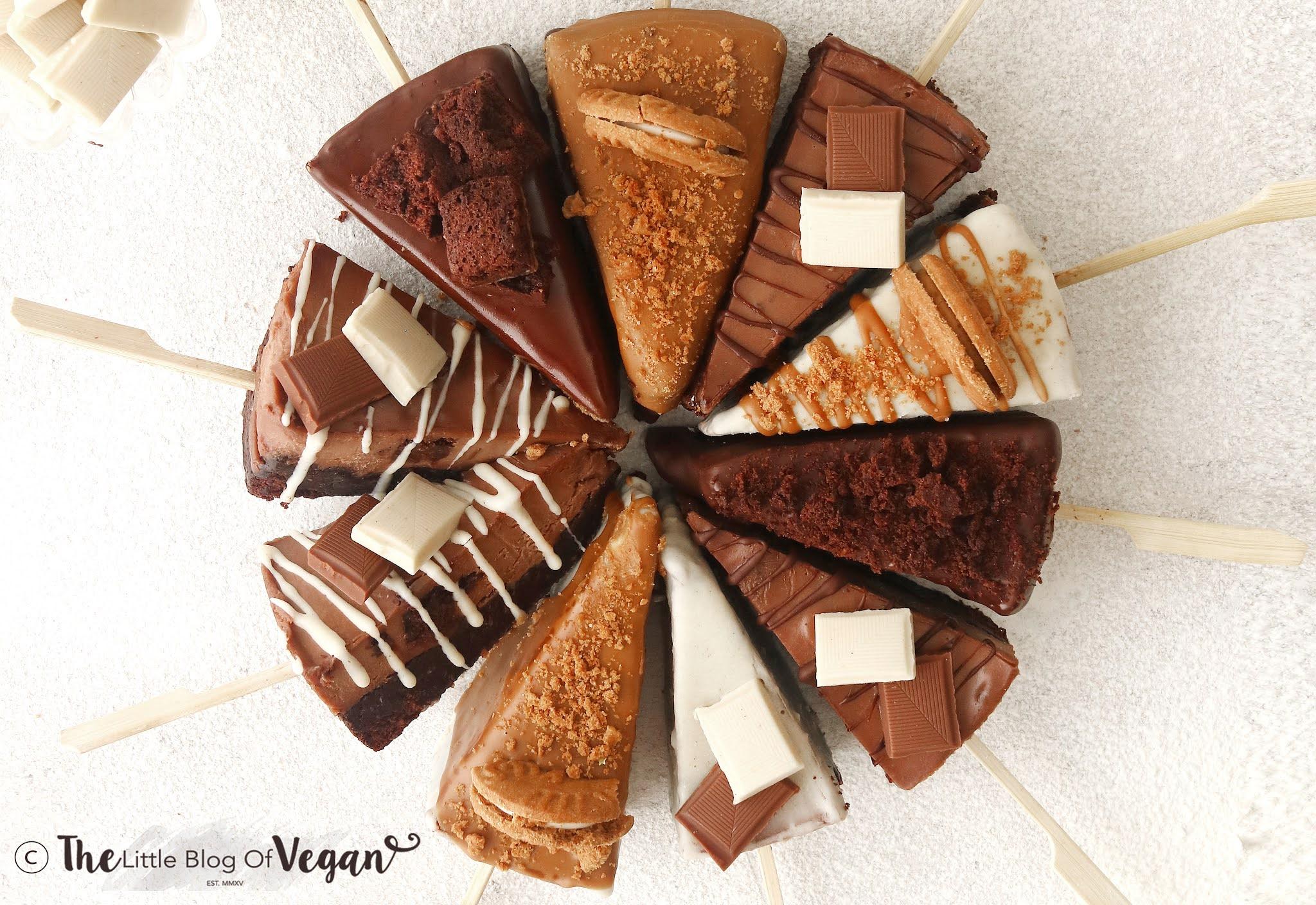 Vegan Brownie Cheesecake (on sticks)