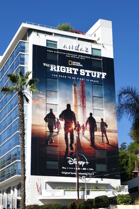 Right Stuff giant series premiere billboard