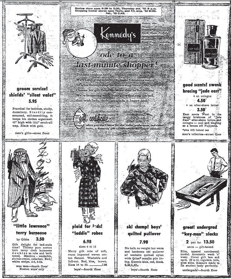 Shopping Days In Retro Boston: Kennedy's Clothing Store   A