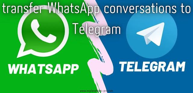transfer WhatsApp conversations to Telegram