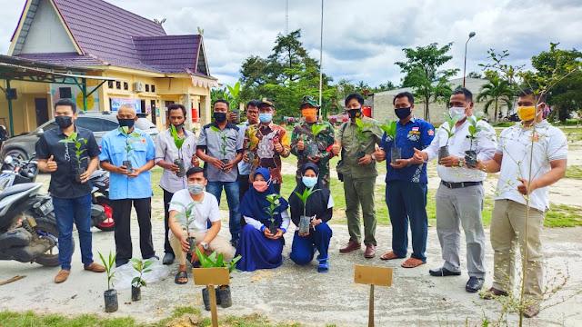 CV. BSI dan Lembaga Jemad Kembali Menanam Bibit Manggis Bersama Karang Taruna