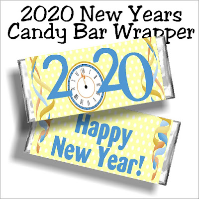 Whether you share these free printable candy bar wrappers at your New Years Eve party or on New Years day, this 2020 candy bar wrapper is the perfect way to wish friends and family a Happy New Year.