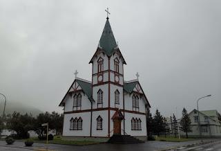 Iglesia de Húsavík, Islandia, Iceland.