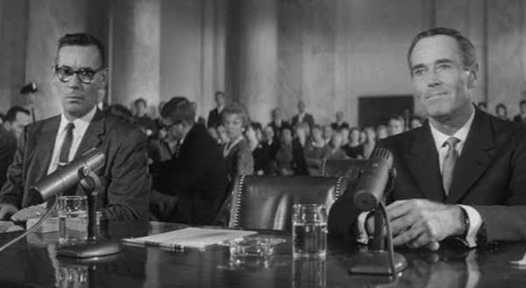 Henry Fonda testifies in Otto Preminger's Advise & Consent.