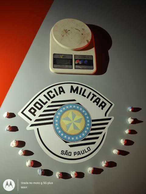 Em Lucélia, Força Tática da PM prende homem por tráfico de drogas; entorpecente foi pago via PIX
