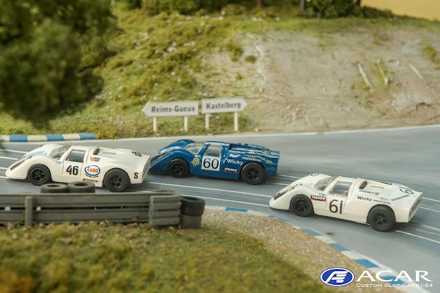 Porsche 907 #61 Wicky Racing Team und zwei weitere Porsche 910