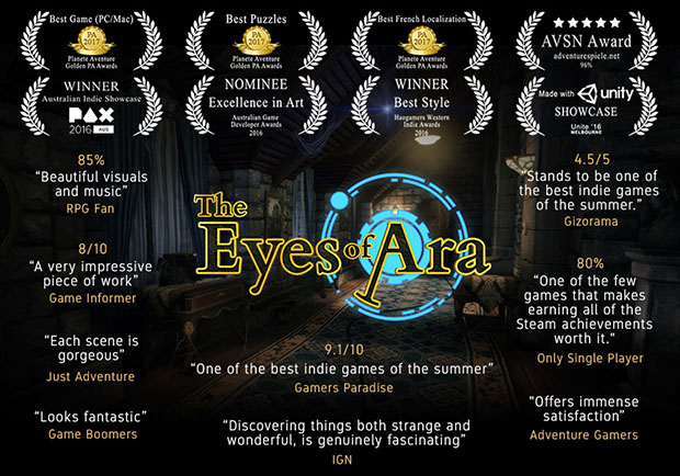 The Eyes of Ara has been well received by critics