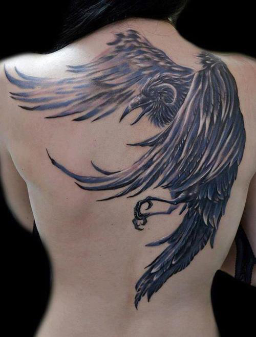 raven tattoo3d tattoos. Black Bedroom Furniture Sets. Home Design Ideas