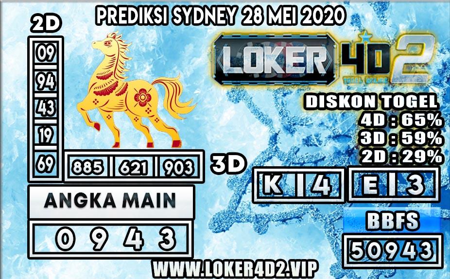 PREDIKSI TOGEL SYDNEY LOKER4D2 28 MEI 2020