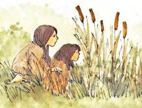 Miriam con l'amica al fiume