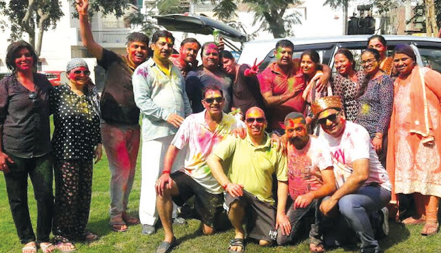 Celebrated Holi celebrations by Indian Panchyad army, Faridabad