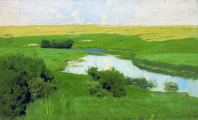 Исаак Ильич Левитан - Речка Истра. 1885-1886