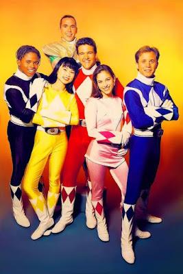 Throwback - Power Rangers First Season. Pelakon Asal Powers Rangers, Power Rangers Pink, Merah, Hitam, Kuning dan Biru,