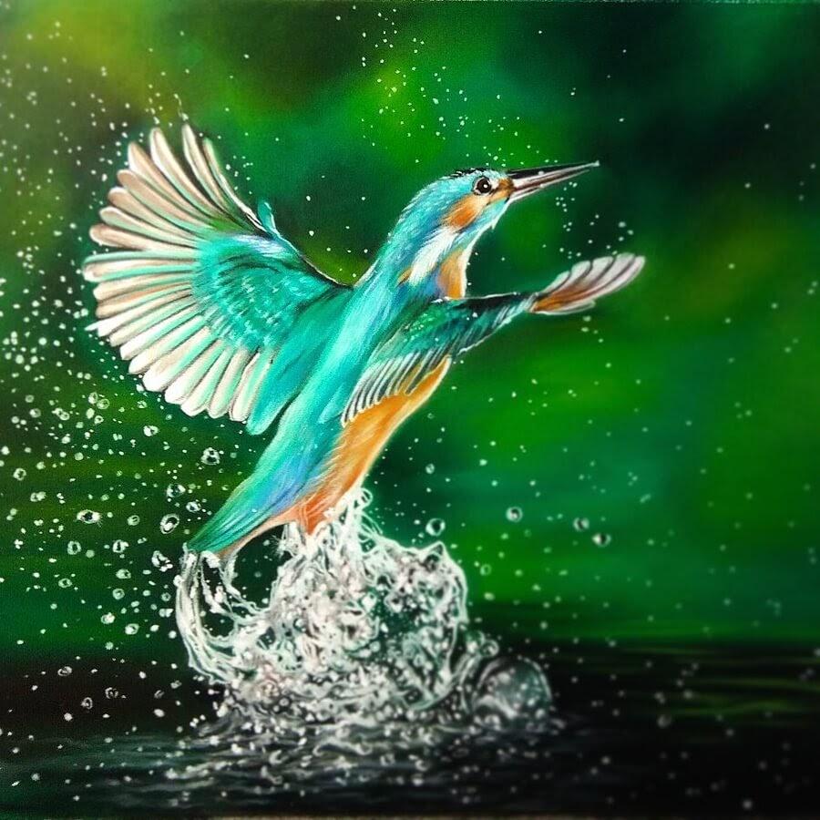 10-Kingfisher-Cute-Animals-Анастасия-Серая-www-designstack-co