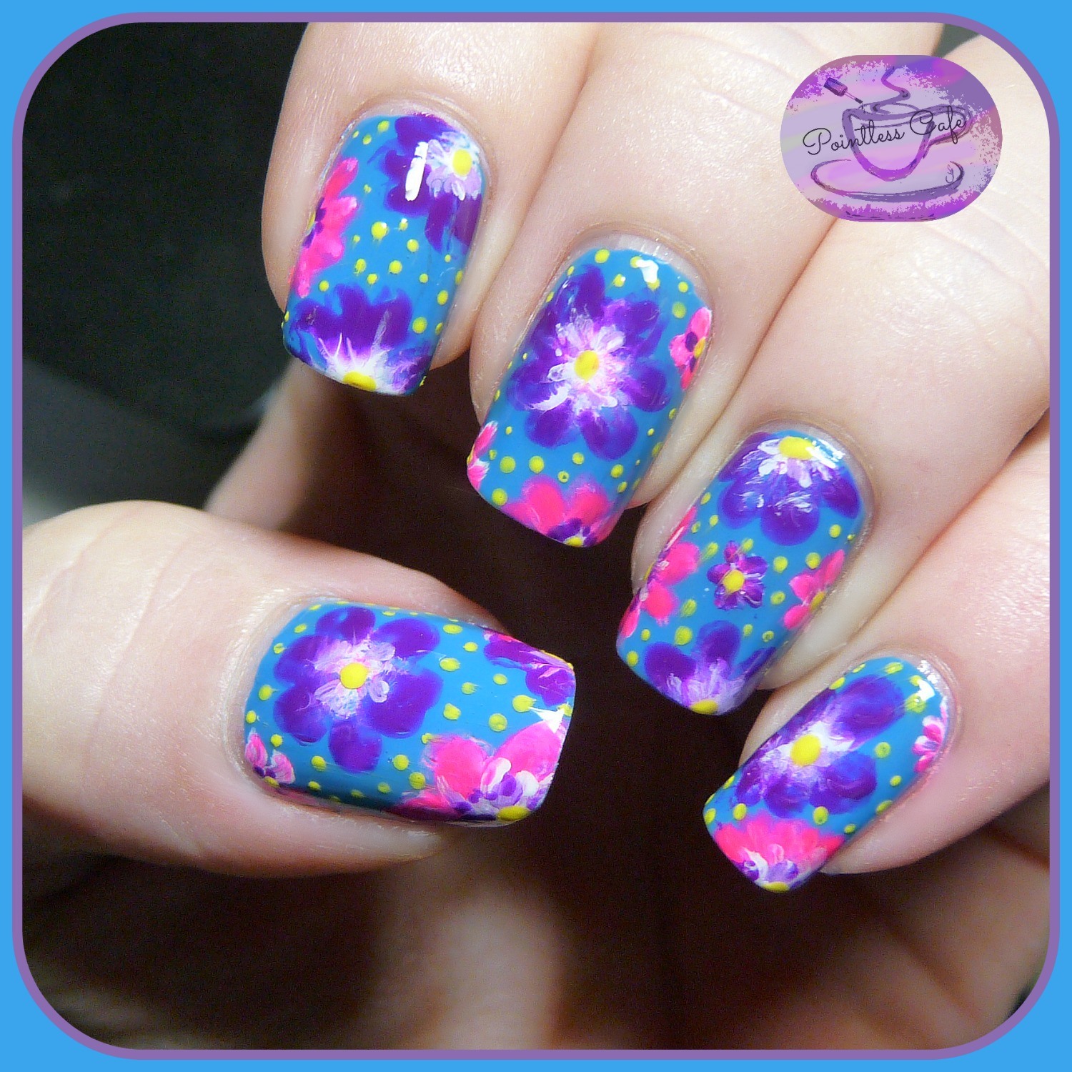 Floral Nail Art: The Digit-al Dozen Does Summer: Day Four