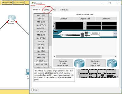 Configuracion de Router en Packet Tracer