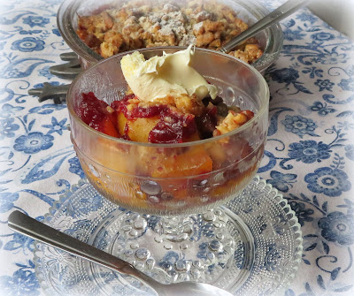 Cranberry Peach Crisp