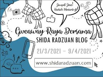 Mrs. A Join 'Giveaway Raya Bersama Shida Radzuan Blog'