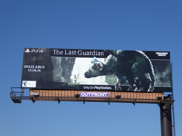 Last Guardian PS4 game billboard