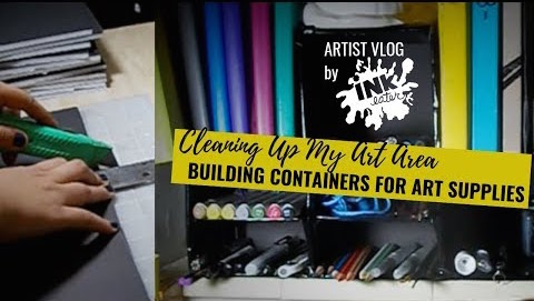 Building Containers for Art Supplies from Dollar Tree