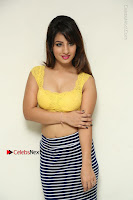 Cute Telugu Actress Shunaya Solanki High Definition Spicy Pos in Yellow Top and Skirt  0059.JPG
