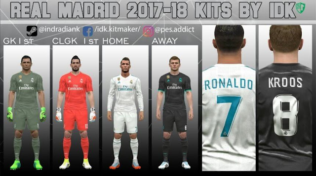 Real Madrid 2017-18 Kit PES 2017