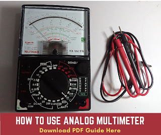 how to use analog multimeter pdf