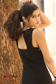 Actress Poojitha Pallavi Naidu Stills in Black Short Dress at Inkenti Nuvve Cheppu Movie Platinum Disc Function  0121.JPG