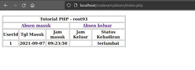 Tutorial PHP : Cara agar hanya bisa input pada rentang waktu tertentu