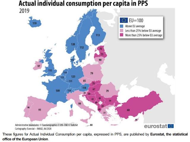 Ireland Actual consumption per capita