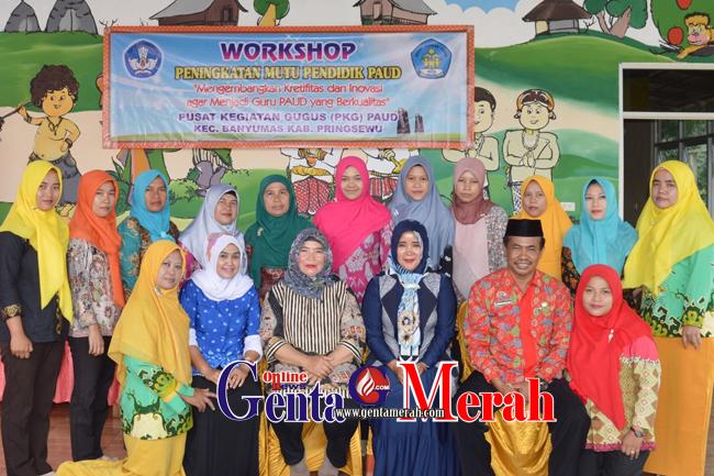 Tingkatkan Mutu Pendidik PAUD, PKG Banyumas Gelar Workshop